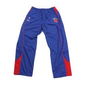 Vtg New Reebok Mens 3XL Detroit Pistons Pants Blue